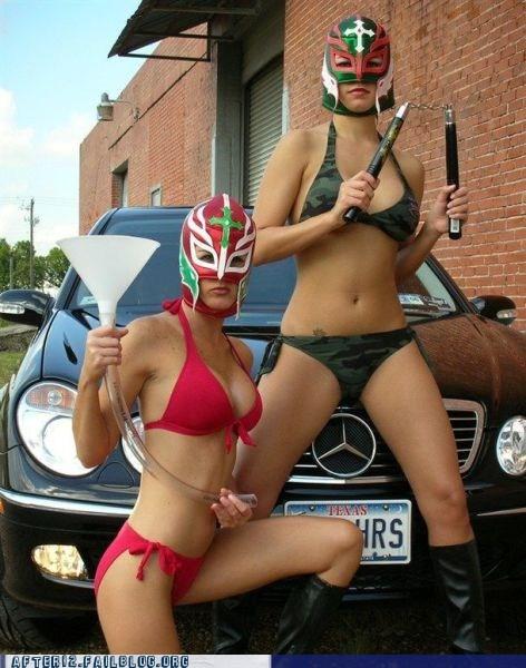 after 12 beer bong bewbs lady bits Lucha Libre woo girls - 6014153472