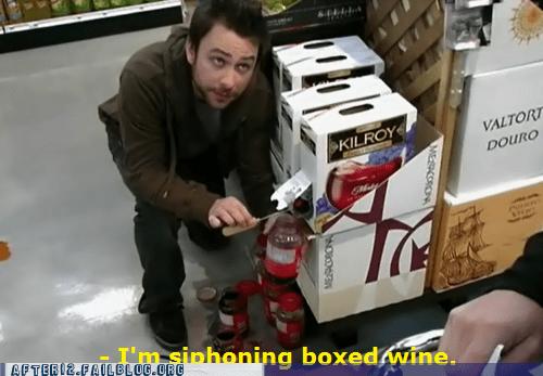 its-always-sunny scheme siphoning wine - 6014154496