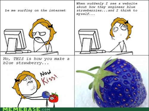blueberry man fruitmen meme madness Rage Comics strawberry guy - 6014244352