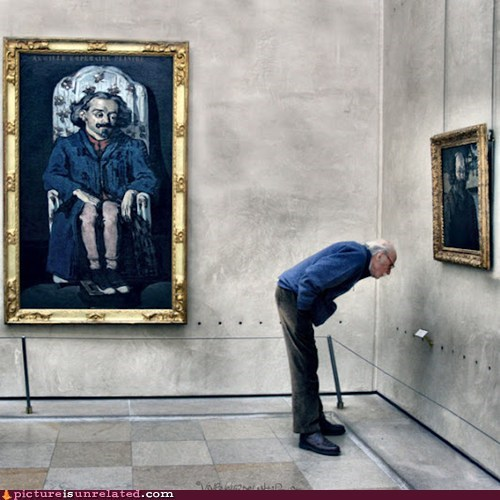 art museum dat ass old people painting wtf - 6014355456