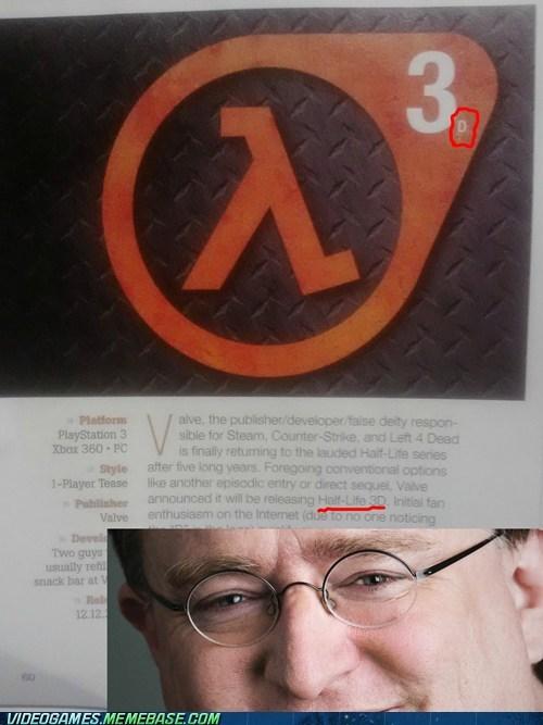 gabe newell half life half-life 3d PC trolling valve - 6014490112