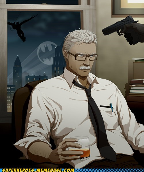Awesome Art batman commissioner gordon - 6014613248