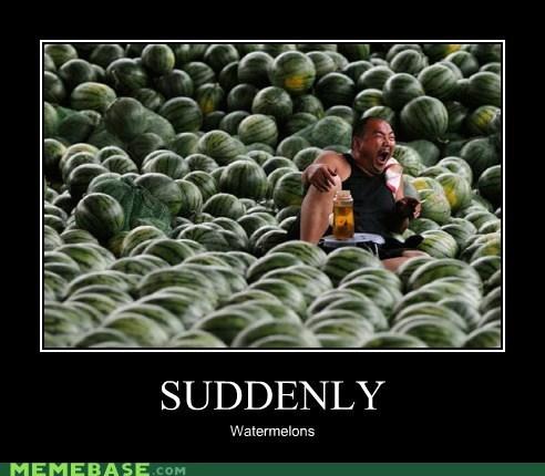 suddenly thousands very demotivational watermelons - 6014650624