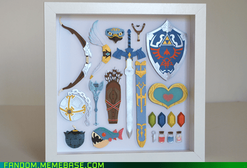 Fan Art legend of zelda props video games