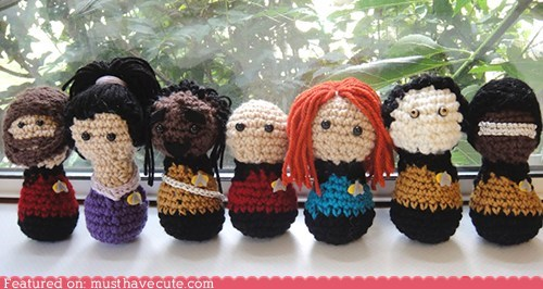 Amigurumi characters chrocheted collection Star Trek TNG