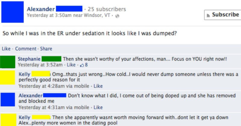 cringe Awkward facebook social media ridiculous breakup - 6014725