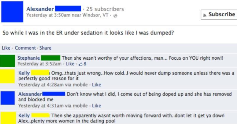 cringe Awkward facebook social media ridiculous breakup - 6014725