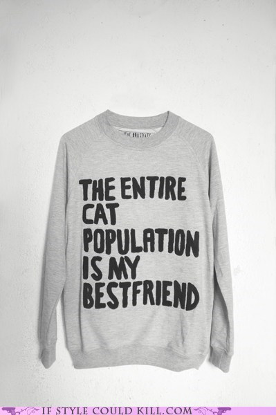 best friend best friends Cats cool accessories crazy cat lady sweatshirt - 6014825216