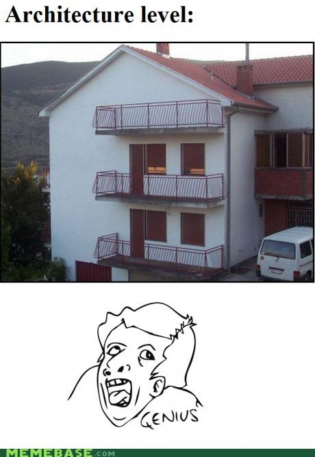 apartments architecture balcony genius Rage Comics