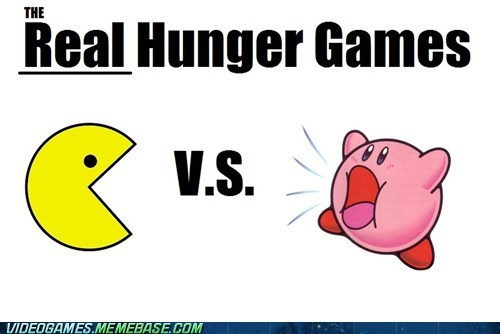 crossover kirby pac man hunger games the internets - 6014899712