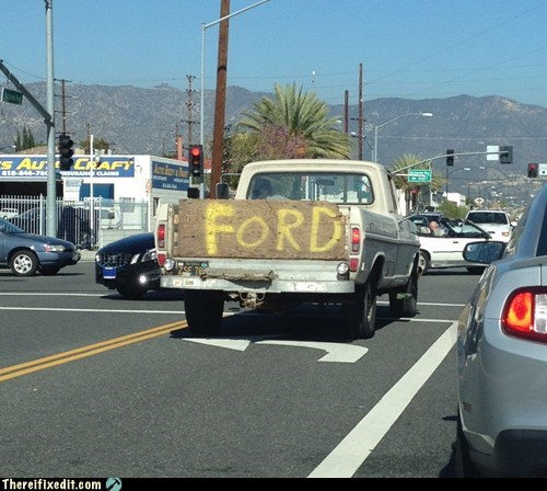People still need to know its a 'Ford'