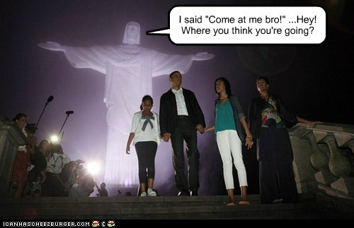 barack obama,brazil,christ the redeemer,political pictures