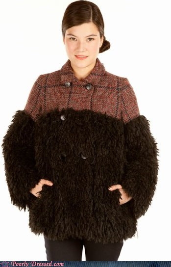 fashion Fluffy fur jacket odd shaved warm