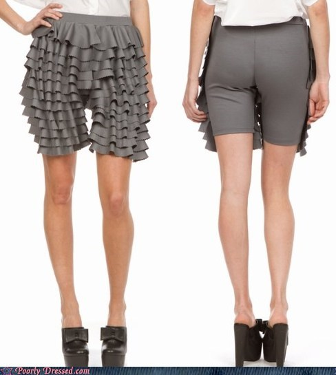 fashion pants ruffles shorts skirt smooth - 6015245056