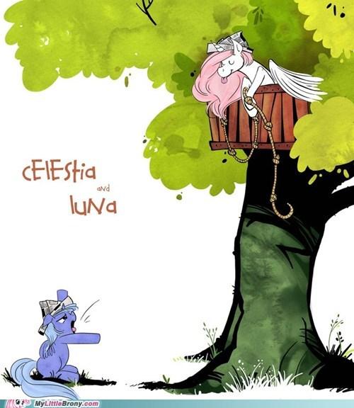 calvin and hobbes celestia comic crossover luna - 6015464448