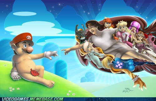 crossover mario nintendo shigeru miyamoto The Creation of Adam - 6015484160