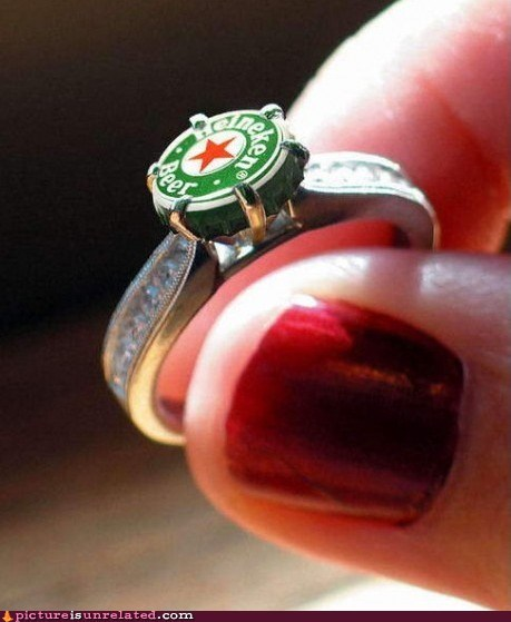 beer best of week engagement ring Heineken wtf - 6015491584