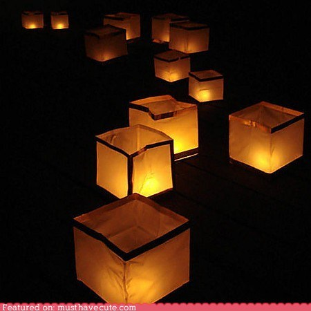 candles decor floating lamps lanterns water - 6016005376