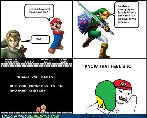 comic,i know that feel bro,link,mario,princess is in another castle