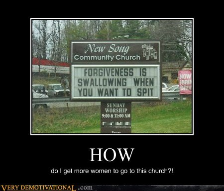 church,hilarious,sign,weird,women