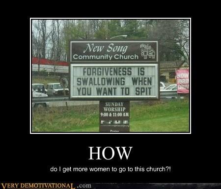 church hilarious sign weird women - 6016144640