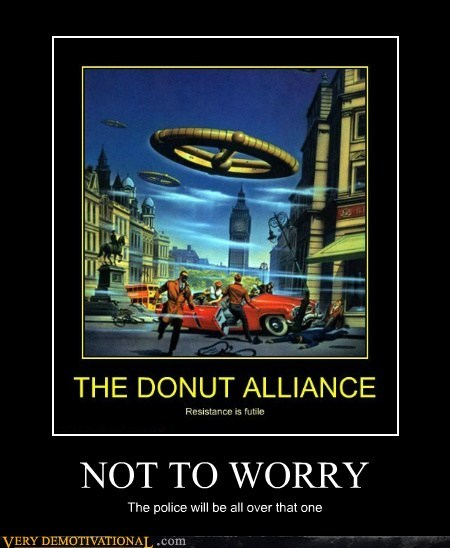 Aliens,donut,hilarious,police,worry