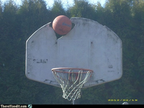 backboard basketball hoop