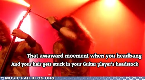 caught,hair,headbanging,metal