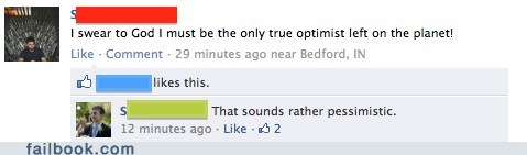 irony optimism pessism