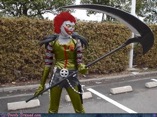 costume,death note,McDonald's,Ronald McDonald,ryuk