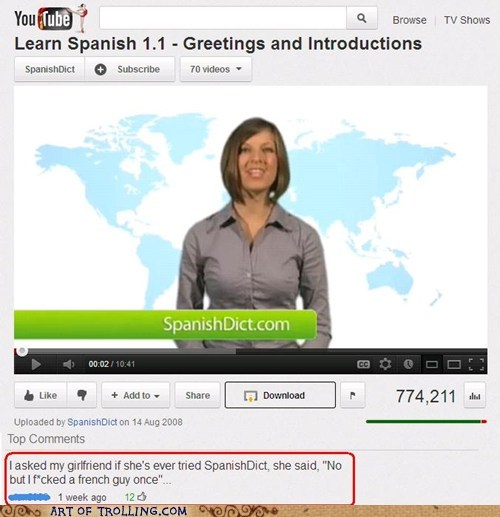 dictionary french spanish that sounds naughty youtube - 6018037248