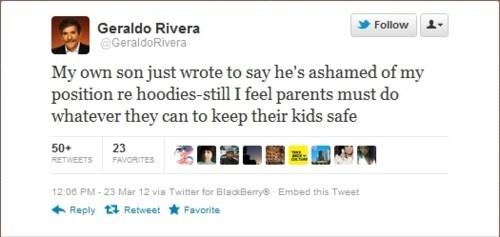 Cruz Grant,Geraldo Rivera,Killer Hoodie,Trayvon Martin,tweet