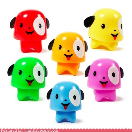 colorful figurines miniature plastic puppies - 6018185216