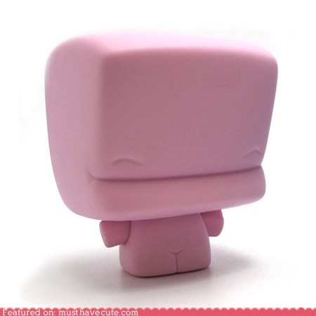 collectible figurine marshmallow pink vinyl