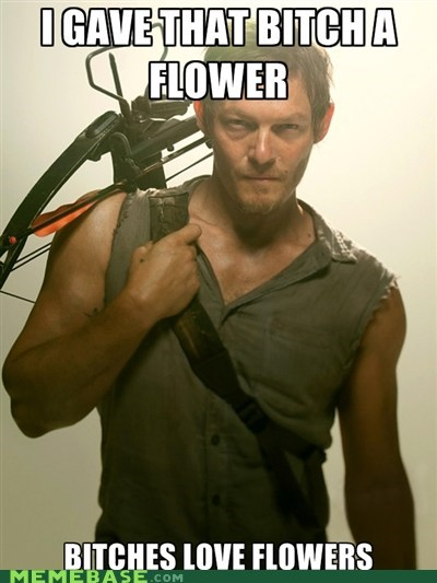 daryl Flower Ladies Love The Walking Dead