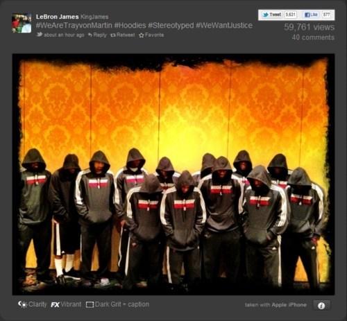 Justice 4 Trayvon lebron james miami heat Sportsmanlike Conduct Trayvon Martin - 6018394368