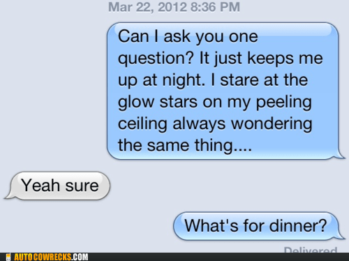dinner parent parenting question - 6018410240