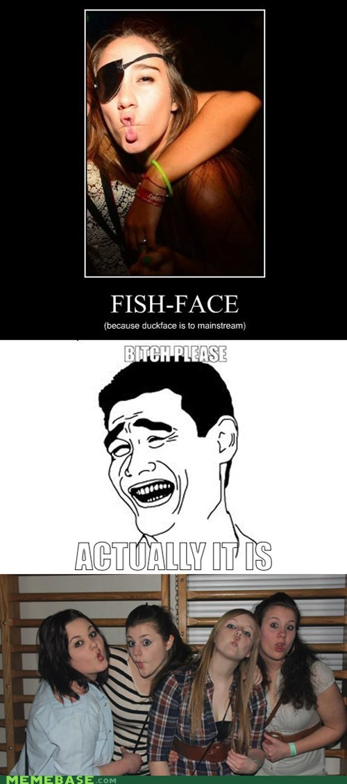 duck face fish face hipsterlulz mainstream - 6018438400