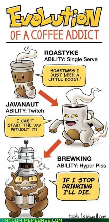 best of week coffee evolutions Fan Art Pokémon - 6018504192