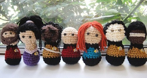 crochet Fan Art Star Trek Star trek the next generation yarn - 6018571008