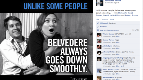 Badvertising Belvedere Vodka LMVH Rape Sells smooth move - 6018602496