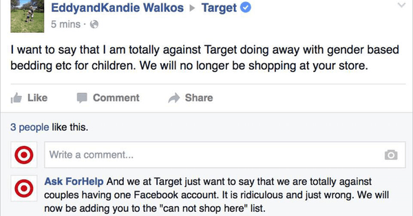 customer service,list,troll,Target,win