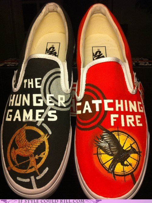crazy shoes,geek,hunger games,vans