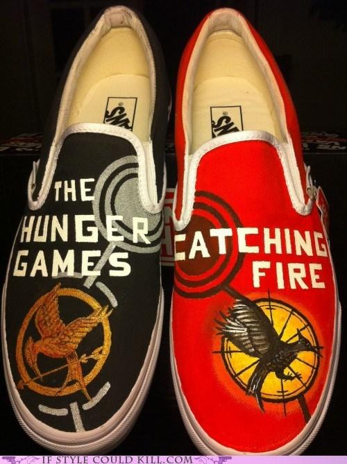 crazy shoes,geek,hunger games,vans