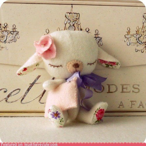 DIY felt handmade lamb Pillow sewing sleepy - 6018830080