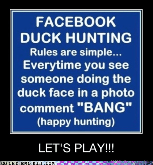best of week duck face hunt facebook game weird kid - 6018874112