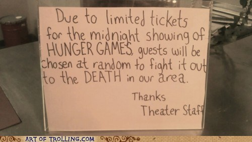 fandombase IRL movies hunger games theater