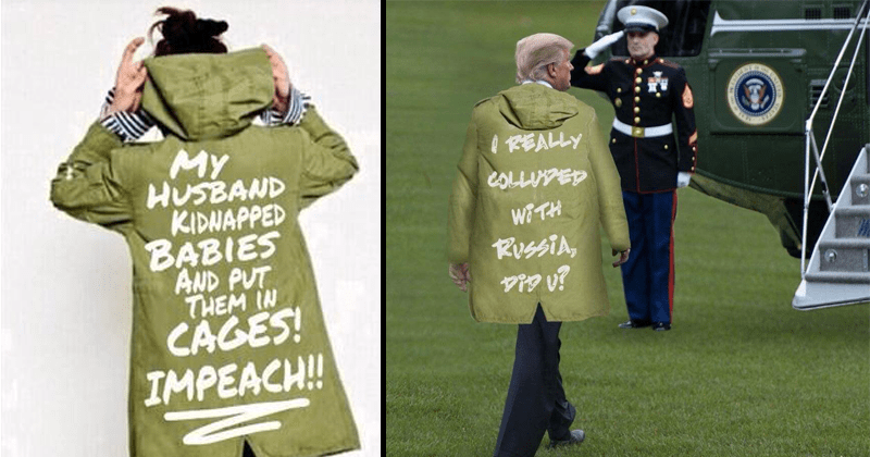 Funny memes about Melania Trump's I really don't care jacket.