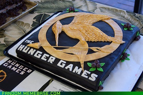 books cake Fan Art movies noms hunger games - 6019080192