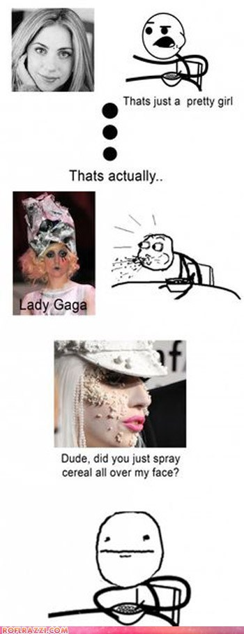 celeb,cereal guy,funny,lady gaga,meme,Music